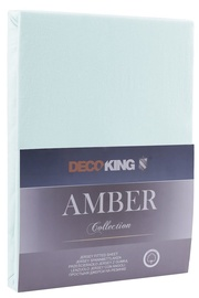 Palags DecoKing Amber Frozen Blue, 240x220 cm, ar gumiju