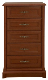 Black Red White Kent Chest Of Drawers 61.5x108.5x45 cm Chestnut