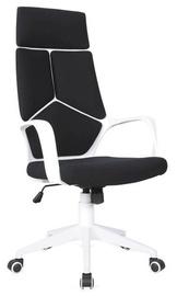 Biroja krēsls Signal Meble Rotary Q-199 Black White