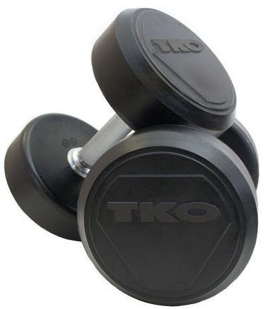 TKO Rubber Dumbbells Pro 2x48kg