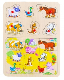Brimarex Wooden Puzzle Animals 15pcs 1581686