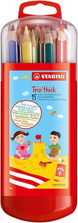 Stabilo Trio Thick Pencils 15pcs