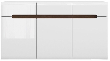 Black Red White Chest Of Drawers Azteca Trio KOM3D3S White