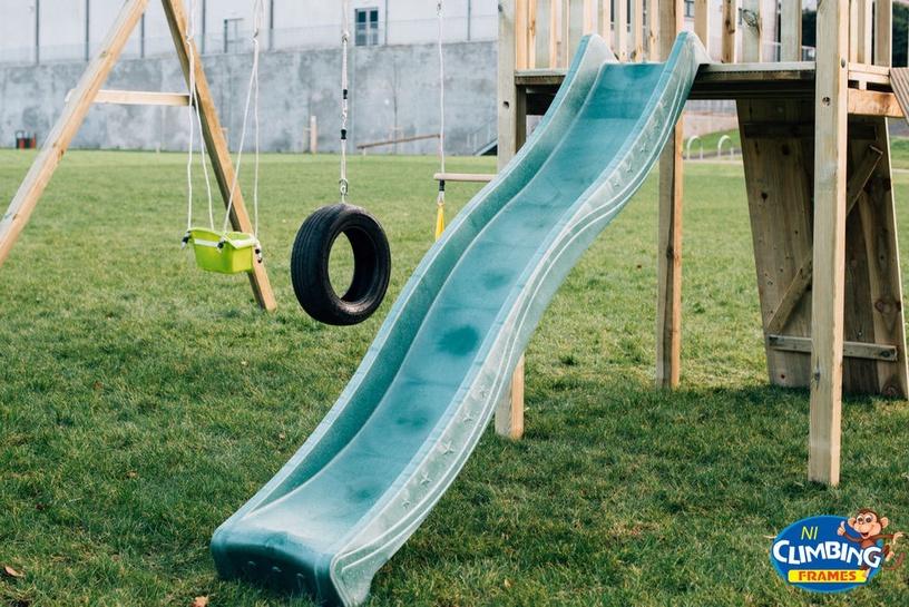 Lauko čiuožykla, žalia, 220 cm