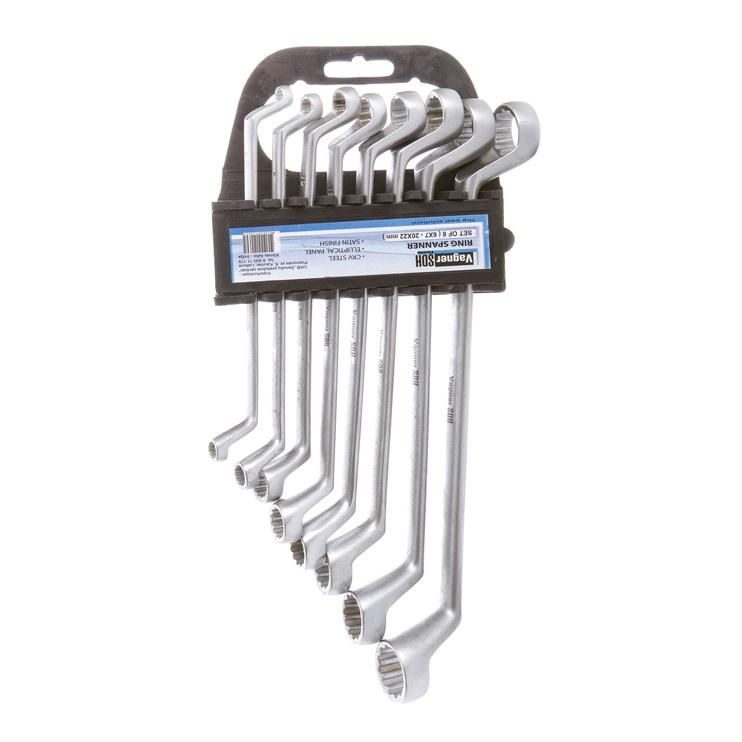 Atslēgas uzgriežņu divpusējs, komplekts 6-22 8 gab cr-v (vagner sdh)