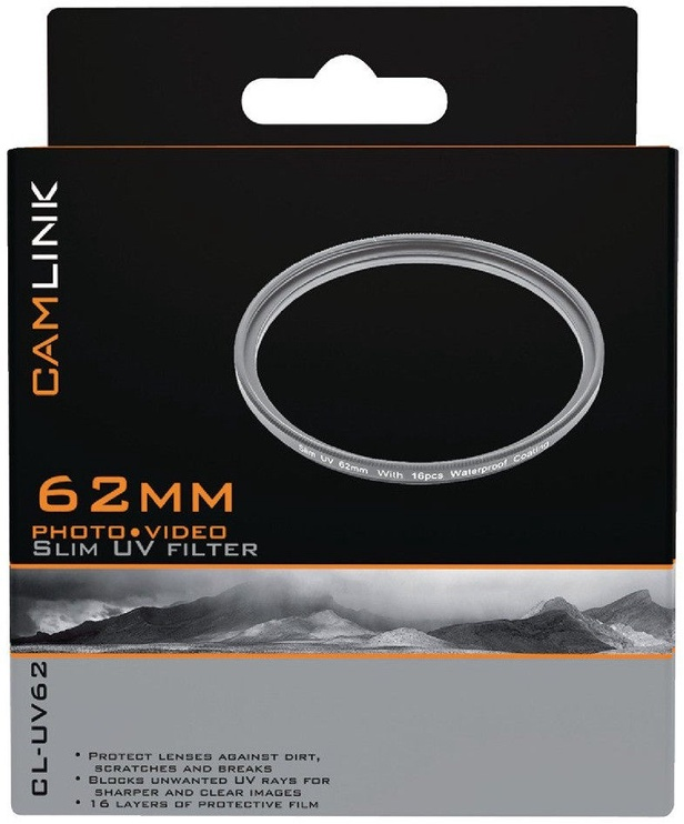CamLink Slim UV Filter 62mm