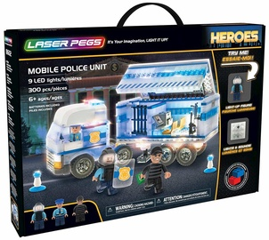 Laser Pegs Mobile Police Unit 18602
