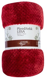 Home4you Liisa Blanket 150x200cm Dark Red