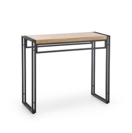 Halmar Bolivart KN1 Console Table Golden Oak/Black