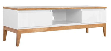 TV galds Black Red White Kioto White/Oak, 1450x460x455 mm