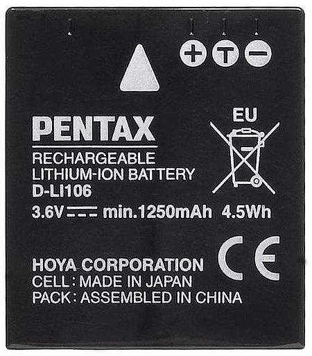 Pentax D-LI106 Lithium-Ion Battery 1250mAh