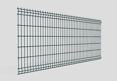 Fence panel 3D 3.2x1230x2500 mm, green