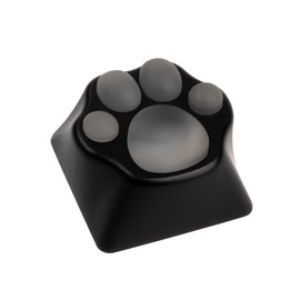 Zomoplus Kitty Paw Aluminum Keycap Black/Transparent