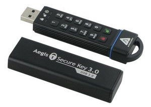 USB флеш-накопитель Apricorn Aegis, USB 3.0, 120 GB