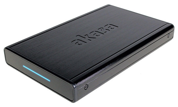 "Akasa External Enclosure Noir S USB 3.0 2.5"" HDD/SSD Black"