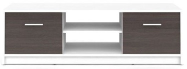 TV galds Black Red White Nepo Plus, brūna/balta, 1385x465x425 mm