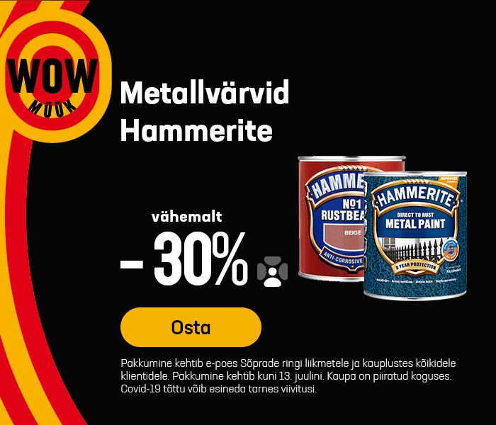 Metallvärvid Hammerite vähemalt -30%