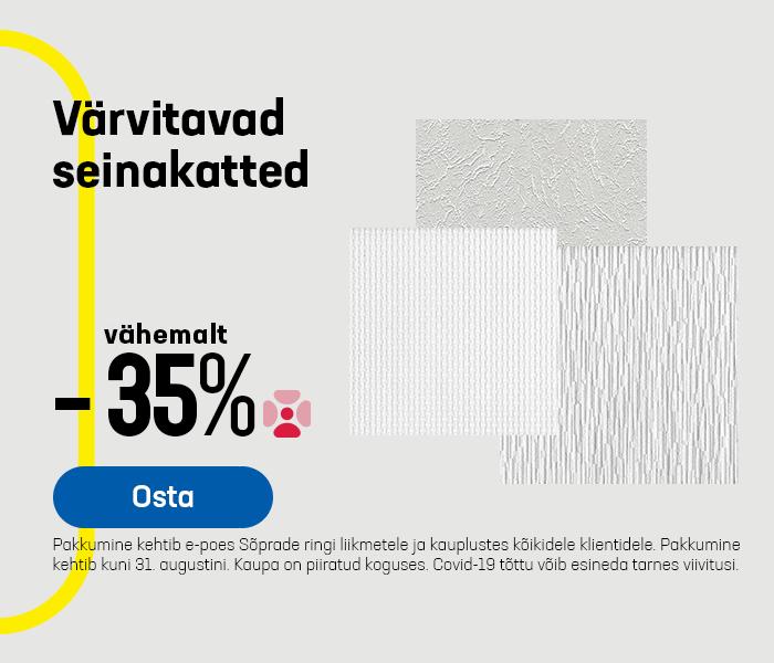 Värvitavad seinakatted vähemalt -35%