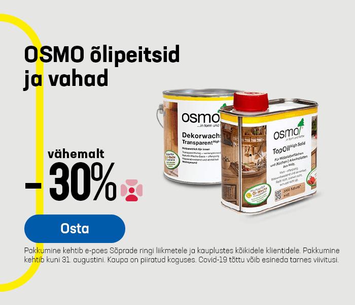 OSMO õlipeitsid ja vahad vähemalt -30%