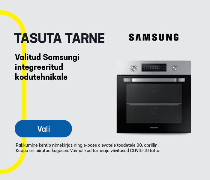 Tasuta tarne valitud Samsungi integreeritud kodutehnikale