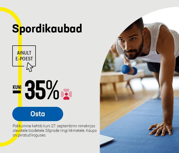 Spordikaubad kuni -35%