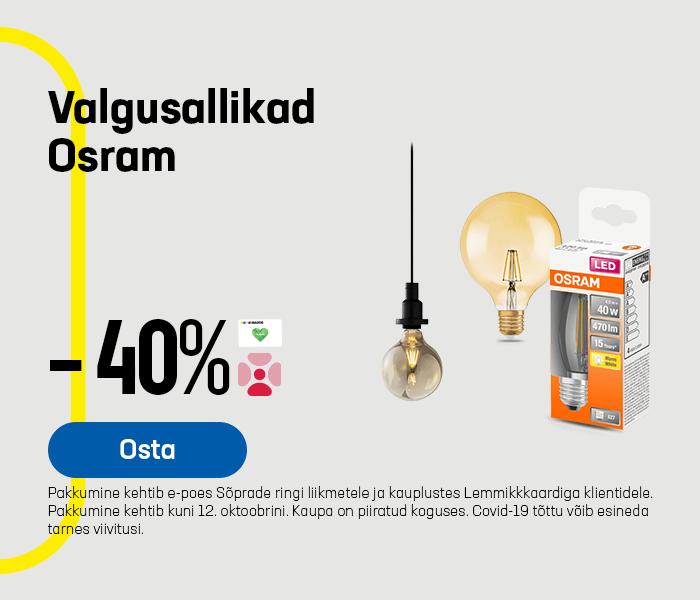 Valgusallikad Osram -40%