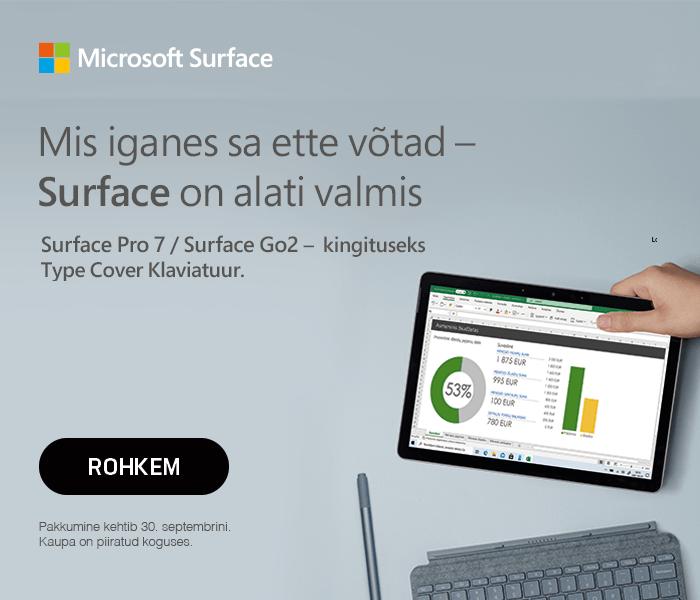 Microsoft Surface - Mis iganes sa ette võtad - Surface on alati valmis Surface Pro 7 / Surface Go 2 - kingituseks Type Cover klaviatuur