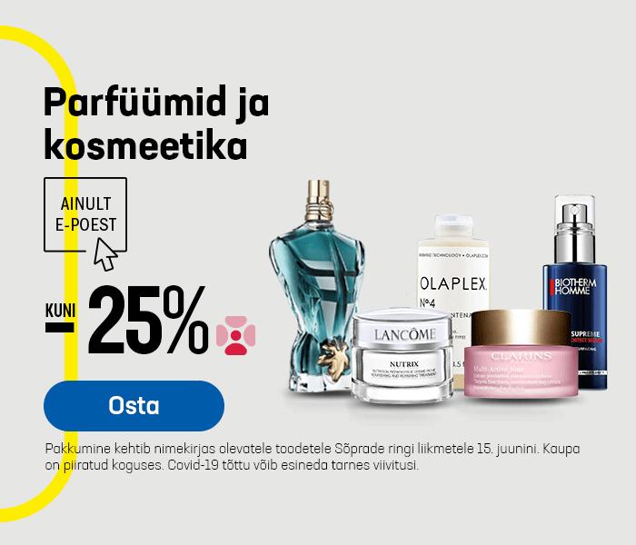 Parfüümid ja kosmeetika kuni -25%