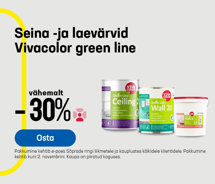 Seina -ja laevärvid Vivacolor green line vähemalt -30%