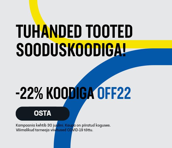 Tuhanded tooted sooduskoodiga! -22% soodustust koodiga OFF22