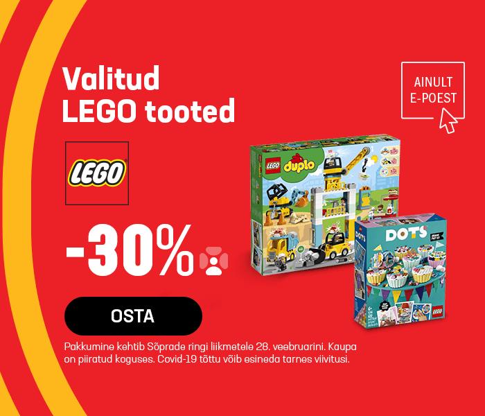 Valitud LEGO tooted -30% soodsamalt