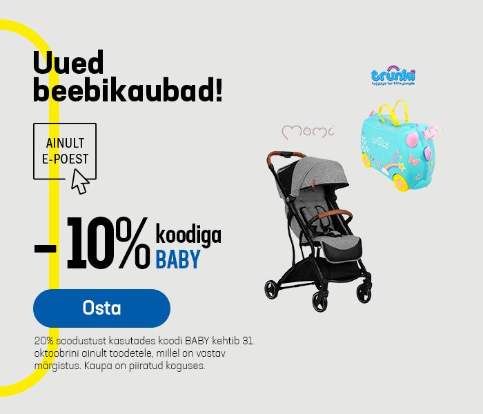Uued beebikaubad! Uued tooted -10% koodiga BABY