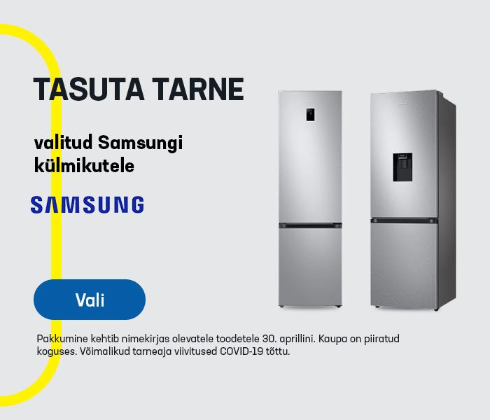 Tasuta tarne valitud Samsungi külmikutele