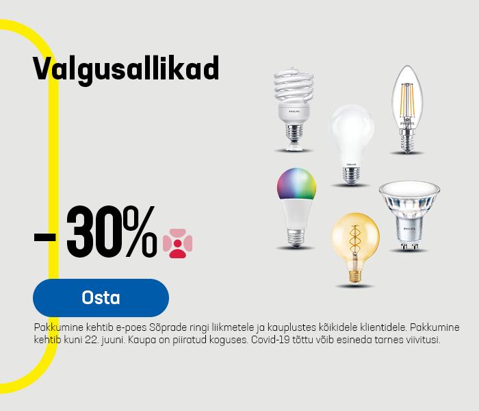 Valgusallikad -30%