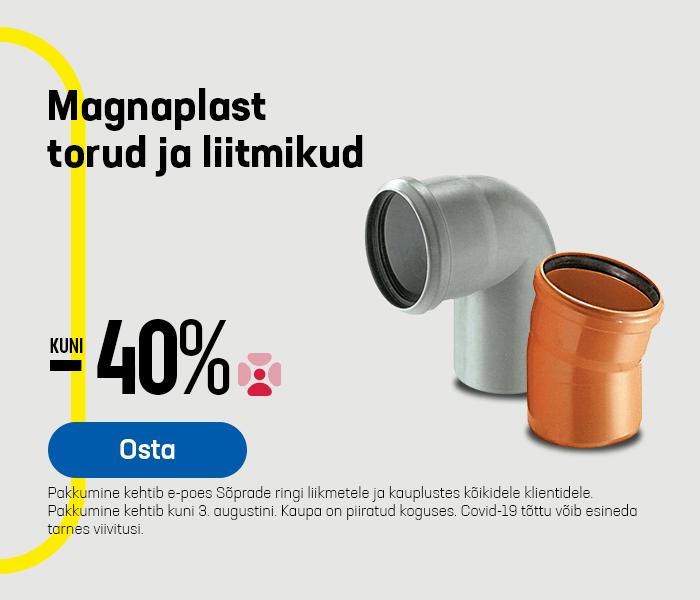 Magnaplast torud ja liitmikud kuni -40%