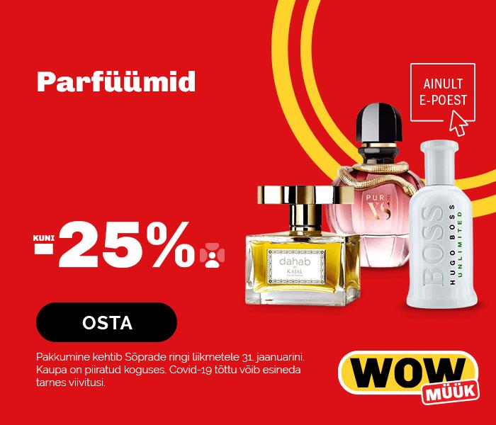 Parfüümid kuni -25% soodsamalt