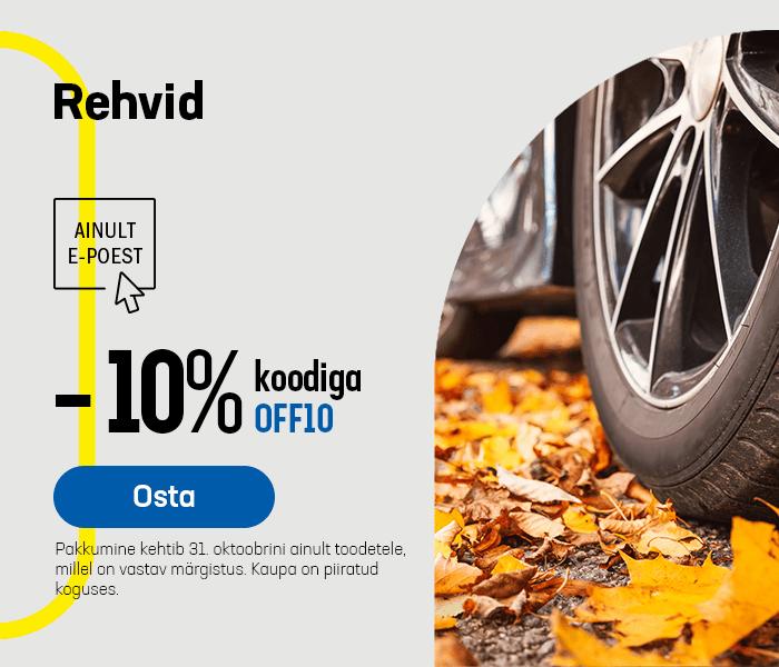 Rehvid -10% koodiga OFF10