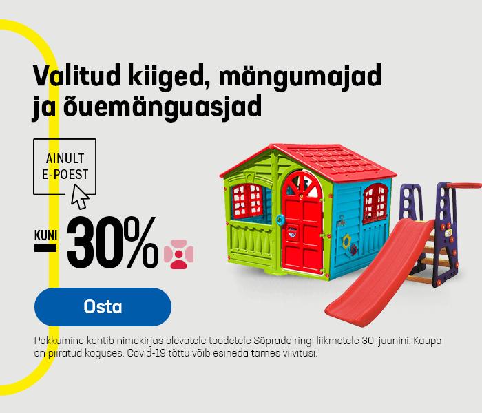 Valitud kiiged, mängumajad ja õuemänguasjad kuni -30%