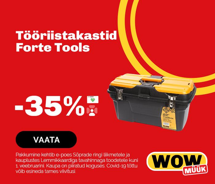 Tööriistakastid Forte Tools -35%