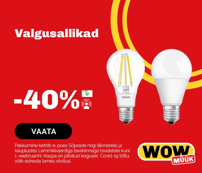 Valgusallikad -40%