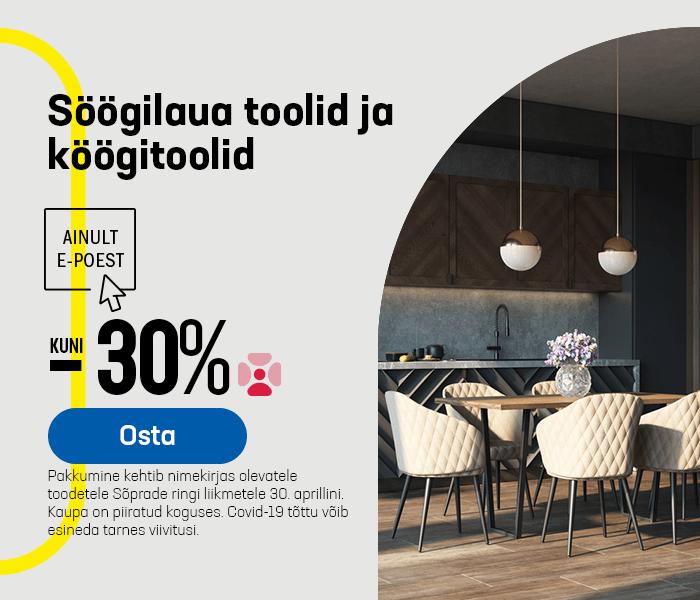 Söögilaua toolid ja köögitoolid kuni -30%