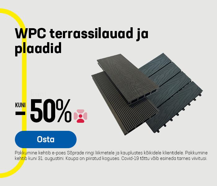 WPC terrassilauad ja plaadid kuni -50%