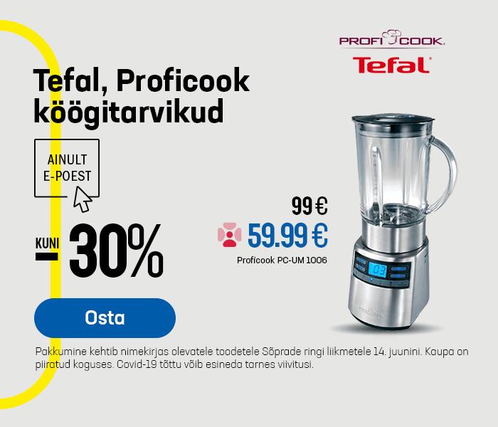 Tefal, Proficook köögitarvikud kuni -30%