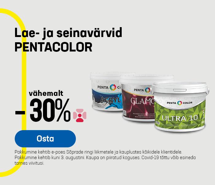 Lae- ja seinavärvid PENTACOLOR vähemalt -30%