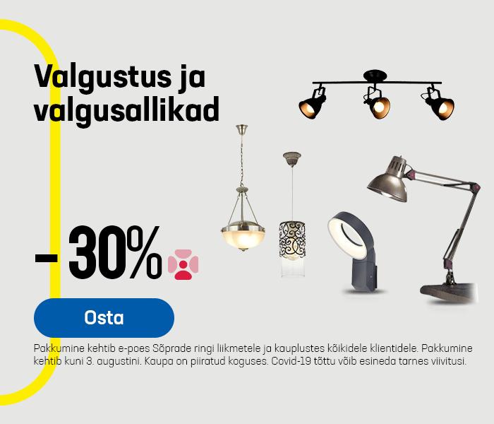 Valgustus ja valgusallikad -30%