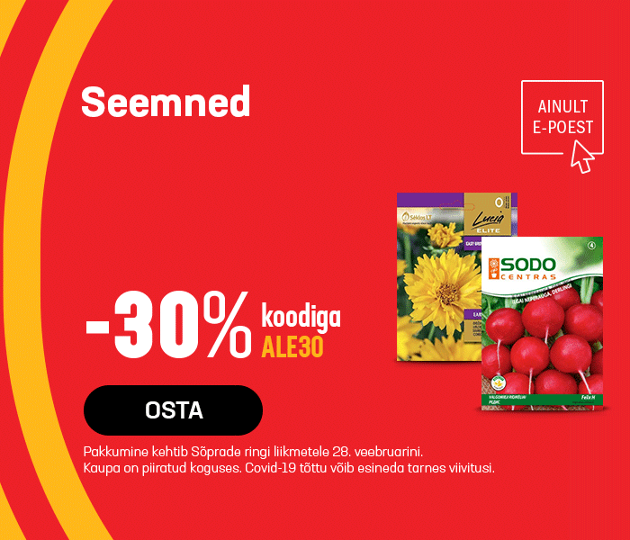 Seemned -30% koodiga ALE30