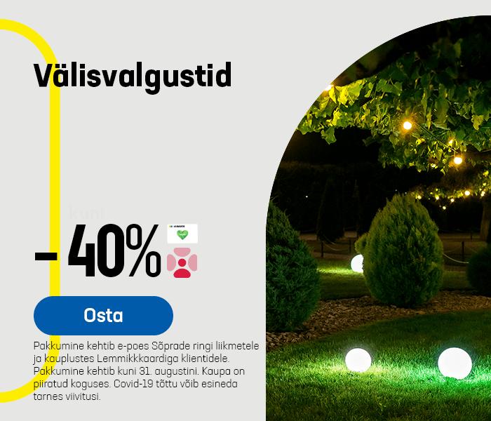 Välisvalgustid -40%