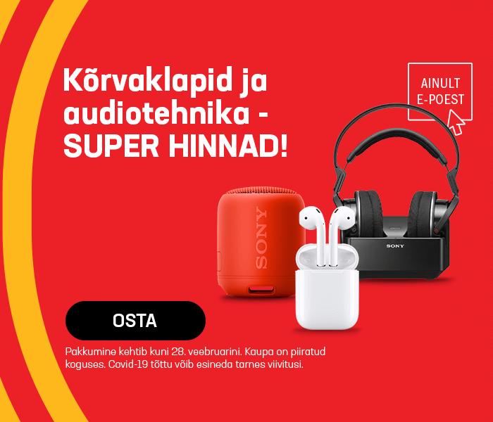 Kõrvaklapid ja audiotehnika - super hinnad!