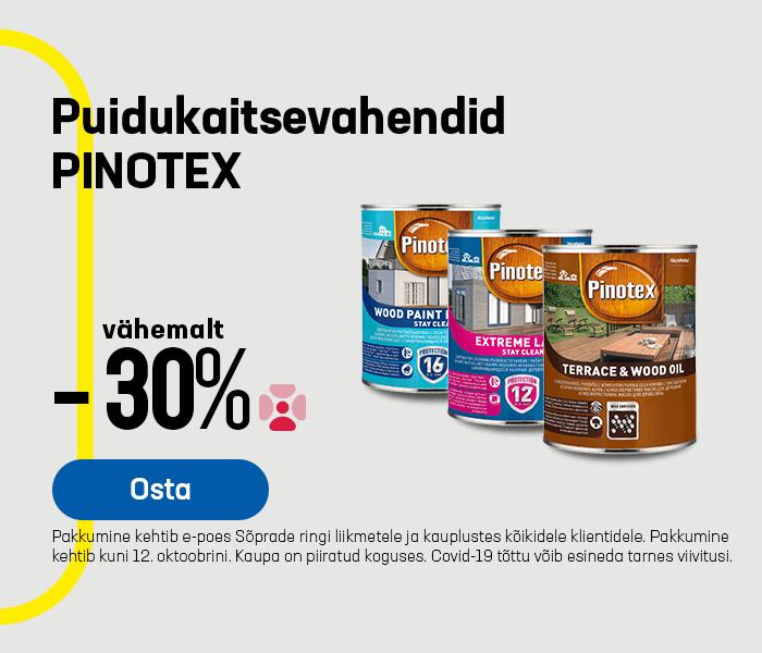 Puidukaitsevahendid PINOTEX vähemalt -30%