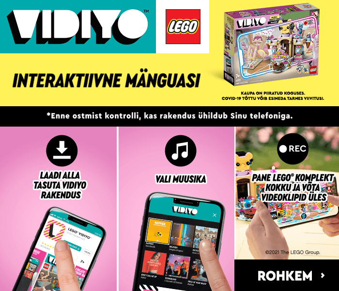 VIDIYO LEGO INTERAKTIIVNE MÄNGUASI